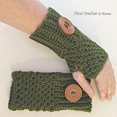 Crochet Fingerless Gloves / Texting Gloves by HandCrochetbySharon