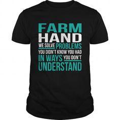 FARM HAND T Shirts, Hoodies. Check price ==► https://www.sunfrog.com/LifeStyle/FARM-HAND-133778060-Black-Guys.html?41382