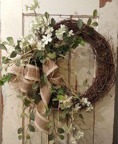 Items similar to BEST SELLER Front door wreath, Greenery Wreath – Wreath Great for All Year Round, Everyday Burlap Wreath, Door Wreath, Front Door Wreath on Etsy – Grapevine Wreath İdeas. Summer Door Wreaths, Easter Wreaths, Fall Wreaths, Christmas Wreaths, Mesh Wreaths, Country Wreaths, Floral Wreaths, Unique Front Doors, Front Door Decor