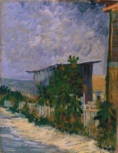 Vincent Van Gogh, Shelter on Montmartre, June 1887. Oil on canvas, 32 x 41 cm. Legion of Honor Museum, San Francisco.