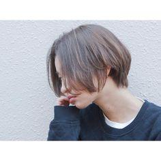 _ hair/make/camera @ayami__takahashi _ #ROVER#原宿#明治神宮前#ショート#ショートヘア#ショートカット#外国人風#抜け感#透明感#アッシュ#くすみカラー#ナチュラル#撮影#作品撮り#サロンモデル#サロモ#ジェンダーレス#アンニュイ#hair#shorthair#style#shooting#followme#makeup#simple