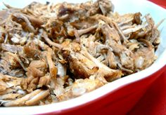 #paleo Smoky Pulled Pork: One 4-to-6 pound pork shoulder; 6 cloves of garlic; 2 small white or yellow onions | Dry rub: ¼ cup Spanish smoked paprika; 2 tbsp dehydrated minced onion; 1 tbsp ground black pepper; 1 tbsp cumin; 1 tbsp chili powder | Actual link corrected to here: http://the21daysugardetox.com/three-meals-one-pot-smokey-slow-cooker-pulled-pork/