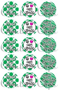 Girl Scouts Images for Bottle Caps 4x6 by CreativeCapz on Etsy, $2.00
