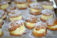 Mom's Famous Cream Puffs - Hugs and Cookies XOXO (Add melted chocolate to cream for 'Chocolate Cream Puffs')