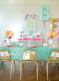 Pink, Mint and Gold Valentine's Day Party for Kids - Project Nursery