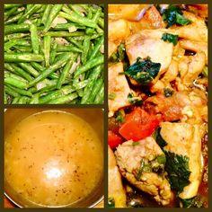 Tender #Masala# #Chicken Thighs Fillets#, #Green Beans# & #Dahl# With #Djira# (#Yellow Slit Peas#/#Cumin Seeds#) Met Malse Masala #Kippendijenfilets#, #Sperciebonen# & Dahl Met Djira (#Gele Erwten#)/#Komijnzaad#) #Surinamese Food# #Caribbean Food# #Surinaams#