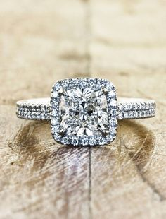 ❤❤❤Unique - handmade - beautiful - the Caroline is all that and more. A glorious 1.79 ct diamond is placed a breathtaking setting of a double band and halo.