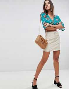 Buy Boohoo Cord Mini Skirt at ASOS. With free delivery and return options (Ts&Cs apply), online shopping has never been so easy. Get the latest trends with ASOS now. Latest Fashion Clothes, Latest Fashion Trends, Asos Online Shopping, Denim Skirt, Going Out, Casual Dresses, Women Wear, Mini Skirts, Adidas