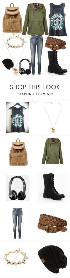 """""""Trip 2 STARBUCKS"""" by annabellewren ❤ liked on Polyvore featuring Gas Bijoux, Topshop, Beats by Dr. Dre, DailyLook, Vero Moda, White Stuff and Joomi Lim"""