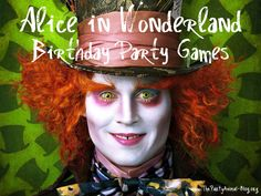 Just got some neat ideas for a themed b-day party: Alice in wonderland party games