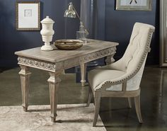 Arch. Salvage Reeves Host Chair And The Gabriel Writing Desk By A.R.T.  Furniture.