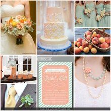 Peach, yellow, and mint wedding
