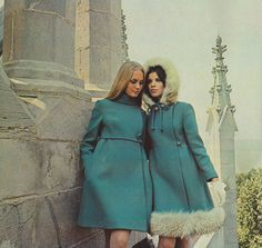 October 1968. 'Modern Deb bridges the past and present in two coats…'