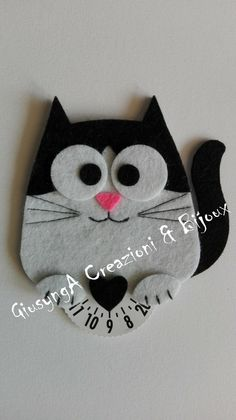 """DISCO ORARIO AUTO Gufo, Gatto, Cavallo, Volpe & C. (Feltro) """"Handmade"""" - EUR 5,29 