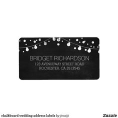 chalkboard wedding address labels chalkboard string lights wedding address labels