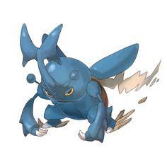 Pokémon - 214 Heracross art by ポリアクリラ (Pixiv)