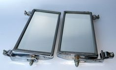 Truck Mirrors Vintage Chrome Rectangle Rat Rod Custom Car Chevy, Ford, GM, Dodge