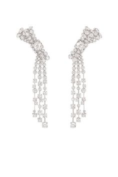 Chanel The 1932 Collection.  The Ruban Mademoiselle earrings LG in 18k white gold and diamonds