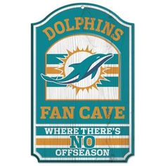 Miami Dolphins Fan Cave Sign