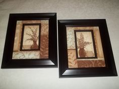 I feel in love when I spotted these two pics at the Salvation Army for only $4.29 each....great home décor for any room decoration......