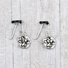 Puppy paw earrings   #Dog #DogMonth #earrings #jewelry #cowgirljewelry  http://www.islandcowgirl.com/
