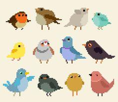 All of the birbs Check out my: / RedBubble / Patreon Pix Art, Pixel Animation, Pixel Art Games, Pixel Pattern, 8 Bit, Art Tutorials, Art Inspo, Game Art, Art Reference