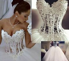 Novo branco/marfim vestidos de casamento vestido de noiva Bola Tamanho Personalizado 4+6+8+10+12+14+16+18 | Roupas, calçados e acessórios, Casamentos e ocasiões formais, Vestidos de noiva | eBay!