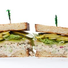 Tuna Melt with homemade pickles.  Classic.