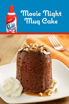 Whip up a couple of these delicious mug cakes for movie night. This recipe makes two mug cakes—perfect for date night.