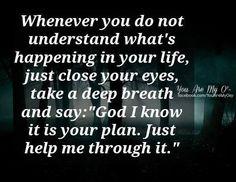 God will always help you through