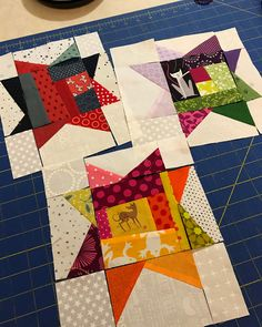 More wonky stars! Star Quilt Blocks, Star Quilt Patterns, Star Quilts, Bargello Quilts, Scrappy Quilts, Mini Quilts, Crumb Quilt, String Quilts, Contemporary Quilts