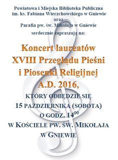 #koncert #muzyka #kościółśwMikołaja #bibliotekawgniewie #pieśnireligijne #piosenkireligijne #laureaci