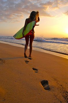 Surfer Girl I am DYING to learn how to surf! I will one day:)