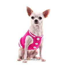 White Princess Pink Dog Dress Ruffle Crochet Handmade Cute Teacup Chihuahua Clothes XXS Pet Clothing DF44 by Myknitt  sc 1 st  Pinterest & CupcaKe Crochet Dog Hat. Funny dog Costumes from Myknitt Designer ...