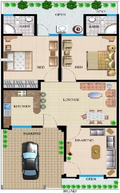 10 marla house plan by 360 design estate home plans for 25x50 house plan