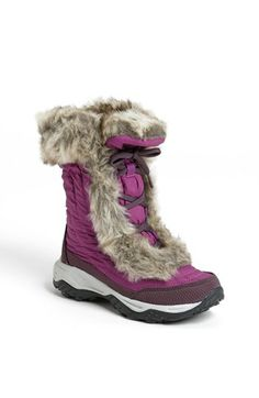 The North Face 'Nuptse Fur' Boot (Little Kid & Big Kid) available at #Nordstrom