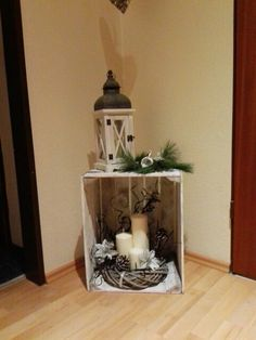 fireplace set or christmas tree in the topf .- kaminersatz oder weihnachtsbaum im topf rausstelle place a fireplace or Christmas tree in the top - Potted Christmas Trees, Outdoor Christmas, Rustic Christmas, Christmas Home, Christmas Fireplace, Christmas Centerpieces, Christmas Tree Decorations, Christmas Wreaths, Holiday Decor