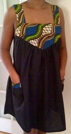 African Print BabyDoll Dress. $30.00, via Etsy.