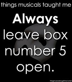 Things Musicals Taught Me: Phantom of the Opera.Things Musicals Taught Me: Phantom of the Opera.Did he not instruct box five was to be kept empty? Broadway Theatre, Musical Theatre, It's Over Now, Music Of The Night, The Rocky Horror Picture Show, Theatre Nerds, Theatre Jokes, Love Never Dies, I Love Music