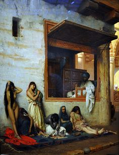 Jean - Leon Gerome (French, 1824 - 1904) The Slave Market. 1871.