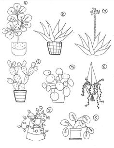 Add on for needle felting kit / Motif additionel pour kit de Doodle Drawings, Easy Drawings, Potted Plants For Shade, Silk Plants, Stencil, Needle Felting Kits, Plant Drawing, Bullet Journal Ideas Pages, Ficus