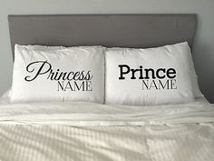 Personalised #prince & #princess #pillow case #valentine's  day love gift m21,  View more on the LINK: 	http://www.zeppy.io/product/gb/2/201281406825/