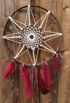 Dream Catcher, One of a kind Dream Catchers, Diy, Hand Crafts, Do It Yourself, Dream Catcher, Bricolage, Dreamcatchers, Wind Chimes, Handyman Projects
