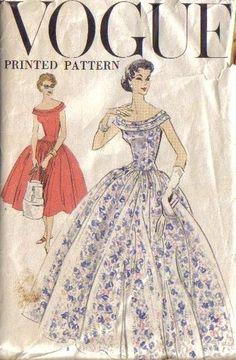 Vintage 1957 Vogue 9035 Ladies Gown
