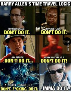 Resultado de imagen para the flash time travel memes