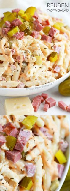 This Reuben Pasta Salad from Holly over at Spend with Pennies has all of the amazing flavors of your favorite Reuben Sandwich in a delicious creamy pasta salad!