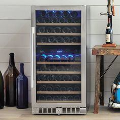 Learn more about our Loft 800 Wine Cooler 94 Bottle Dual Zone NEW Only at IWA Wine Accessories! Wine Refrigerator, Wine Fridge, Wine Cabinet Furniture, Plate Shelves, Stainless Steel Doors, Bottle Sizes, Wine Cabinets, Italian Wine, Sparkling Wine