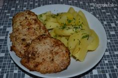 Marinované karé - recept | Varecha.sk Nutella, Baked Potato, Ale, Pizza, Potatoes, Menu, Chicken, Dinner, Baking