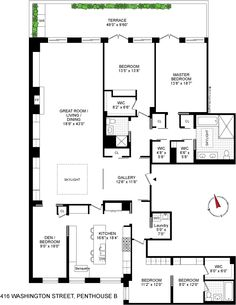 Apartment Floorplans Must Me Some Sort Of Possibility With Those Se Bedrooms Tribeca Nyc