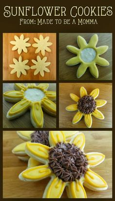Sunflower Cookies - Made To Be A Momma